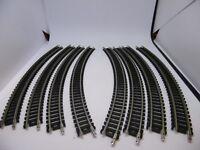 Graham Farish N Gauge Track 379-454 Curved Track RAD 263.5mm 45 N x 8pcs #gj 2