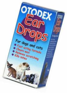Otodex Veterinary Ear Drops 14ml for Pets Cats Dogs Clears Wax Kills mites