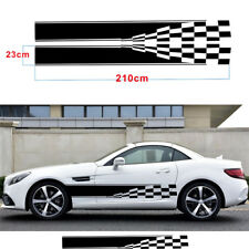 1 Pair Car Graphic Decal Stickers Vinyl Checkered Flag Body Sports Racing Stripe