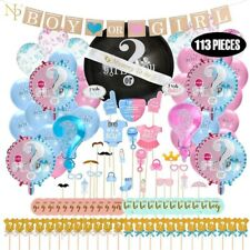 BABY GENDER REVEAL PARTY SUPPLIES ( 113 PIECES PREMIUMS SET)