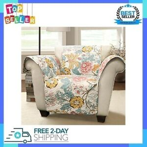 Reversible Recliner Chair Cover Floral Leaf Garden Pattern Furniture Protector
