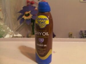Banana Boat Protective Dry Oil 15 With Coconut Oil 6oz 10/23