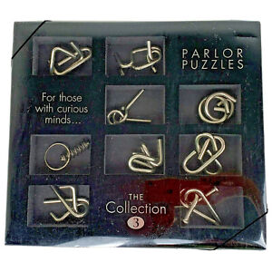 Parlor Puzzles The Collection #3 For Those With Curious Minds Spiral 9 Metal