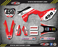 Honda CRF 450 2017 Full Custom Graphic Kit TWO TWO STYLE Decals Stickers