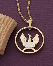 "Phoenix Pendant, Greek Phoenix Pendant, Mythological Jewelry, 7/8"" , ( # 861 )"
