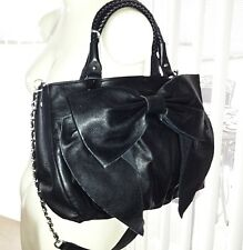 """NWT Bebe Black Leather Bow Shoulder bag / Cross Body purse """"Sold Out"""""""