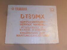 YAMAHA DT80 MX GENUINE SUPPLEMENT SERVICE MANUAL