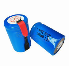6 1600mAh Ni-CD 4/5SC SubC Sub C 1.2V Rechargeable Battery with Tab univerisal
