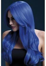 Fever Khloe Wig Neon Blue Long Wave With Centre Parting 66cm / 26in AC