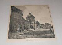 1895 magazine engraving ~ INSTITUTE OF FRANCE