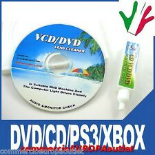 KIT PULIZIA DVD VCD CD PULISCI LENTE LENS CLEANER STOCK
