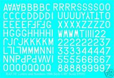 """RAF Numbers & Letters 16"""" water slide transfers decal 1/48 for 1946- WHITE FP892"""