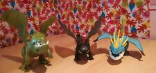3 How To Train Your dragon Figures Toys Toothless Armour Storm Fly Collectables