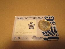 2012 San Marino 1 Euro + 60C Stamp Tribute to Crest CardCoin