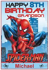 Personalised Spiderman Inspired Birthday Card - Awesome !