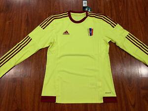 2015-16 Adidas Men's Venezuela Long Sleeve Away Soccer Jersey Medium M