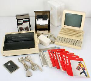 Vtg Apple IIc Computer w A2M4090 Monitor, A9M0306 Thermal Transfer Printer MORE!