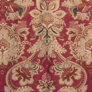 Vtg Ralph Lauren Jardiniere Queen Duvet Cover Red Gold Cotton Sateen Rope Trim