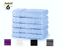 6 Pack Egyptian Cotton Face Cloth Wash Cloth Flannels Luxury Super Soft 600 GSM