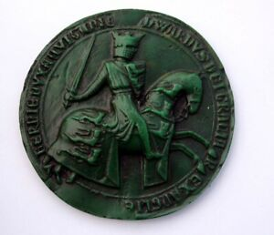 Edward I Great Royal Seal Reverse Green - Medieval Reproduction Collectable Gift