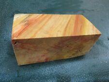 FF- FLAME BOX ELDER BURL  DELUXE KNIFE BLOCK/SCALES/ CALLS/ PEN BLANKS--F--45