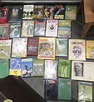 Vintage Cricket Books Australia England West Indies Biography MCG Bradman