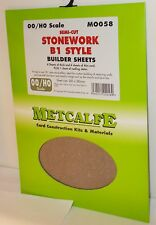 Metcalfe M0058 - Stonework B1 Style Builder Sheets - New - (00/H0) Card Kit.