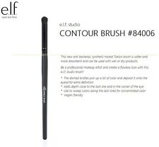 e.l.f. Studio Contour Brush #84006 Eyes Taklon Anti Bacterial Global Shipping