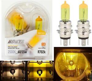 Nokya 2500K Yellow H4H Nok7639 60/55W Two Bulbs Head Light JDM Lamp Replacement