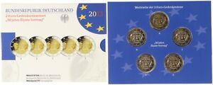 BRD 2 Euro Gedenkmünzenset 2013 - 50 Jahre Elysee-Vertrag - Spiegelglanz