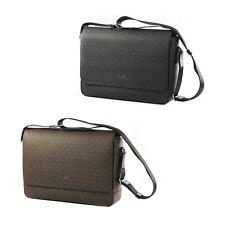 Michael Kors Harrison Coated Canvas Logo Crossbody Laptop Messenger Bag Satchel