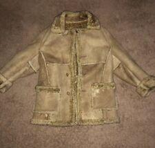 Schott Sheepskin Shearling Leather & Fur Marlboro Man Coat Sz 42