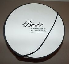 VINTAGE BAUDER FASHION CAREER COLLEGE & FINISHING SCHOOL HAT BOX