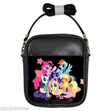 My Little Pony Family Black Leather Girls Sling Bags Wallet Purse