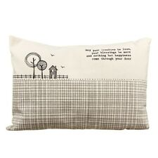 East of India Cushion Feather filled Rectangle MAY YOUR TROUBLES BE LESS New