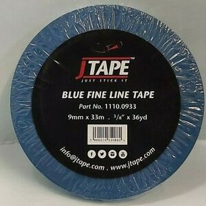 """J TAPE 9mm x 33m Blue Fine Line Masking Tape JTape 3/8"""" x 36 yard FREE postage"""