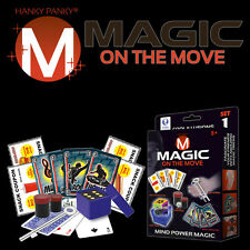 MAGIC ON THE MOVE POCKET SET 1 BY HANKY PANKY TRICKS COOL ILLUSIONS MIND POWER