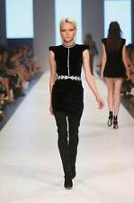 "NWT SASS & BIDE ""Fact Or Fiction"" Rhinestone Embellished Velvet Dress Sz 12 $890"