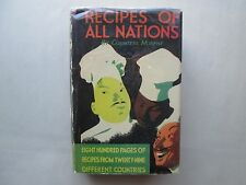 RECIPES OF ALL NATIONS by Countess Morphy 1959 HCDJ Cookbook THUMB INDEXED