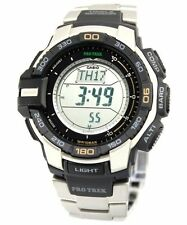 PRG270D-7 Casio Watch Tough Solar Pro Trek Stainless Steel NEW