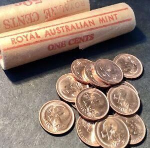1966 1 Cent Australian Decimal Coin x1 Almost Uncirculated Grade aUnc.