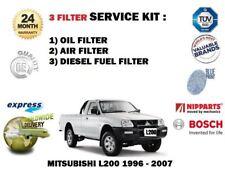 Per Mitsubishi L200 4D56 2.5D 2.5DT 1996-2007 OLIO COMBUSTIBILE ARIA 3 Filtro Servizio Kit