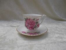 Vintage Royal Windsor Fine Bone China Tea Cup & Saucer-Pink Roses