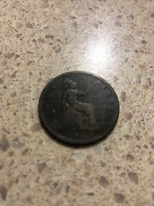 Coin British - One Penny Queen Victoria 1875 #Q1