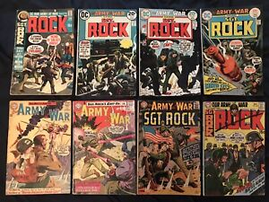 OUR ARMY AT WAR (Sgt Rock) Lot of 8 comics:#132,145,185,224,233,263,264,279 G/VG