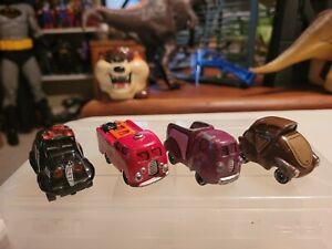 Vtg Lot of 4 Hallmark Cards Road Rovers Die Cast Cartoon Toy Cars
