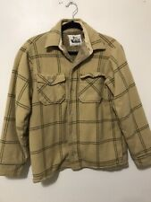 Vintage Woolrich Wool Flannel Plaid Lined Jacket USA Made Men's Medium M Brown