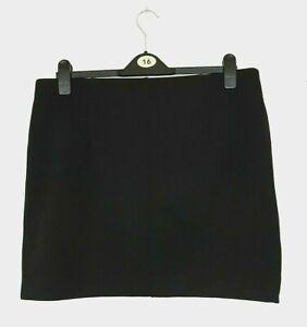 H&M BLACK STRETCHY ELASTIC WAIST BODYCON MINI SKIRT FIT 16-18