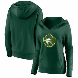 Seattle Storm Fanatics Branded Women's Primary Logo V-Neck Pullover Hoodie -