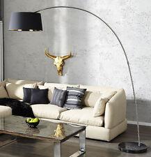Lámpara de pie Suelo Negro Oro Oscuro Sapphire Mármol Lounge diseño NUEVO